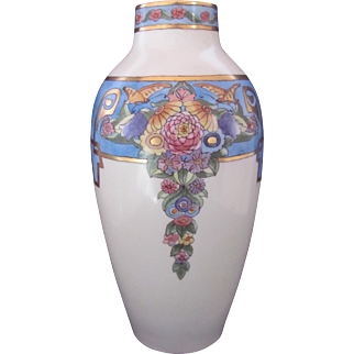 Art Deco Vase Hobbyist Hand Painted 1922 Jager & Co. Blank
