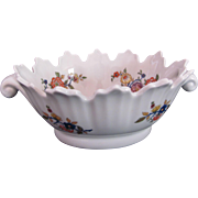 LIMOGES Castel Co. Oval Dish Bowl Large Sawtooth Edge