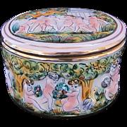 Capodimonte Covered Round Box Dish
