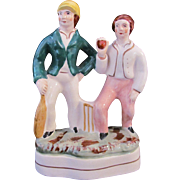 Staffordshire Group Figurine Cricketters Cricket Players England