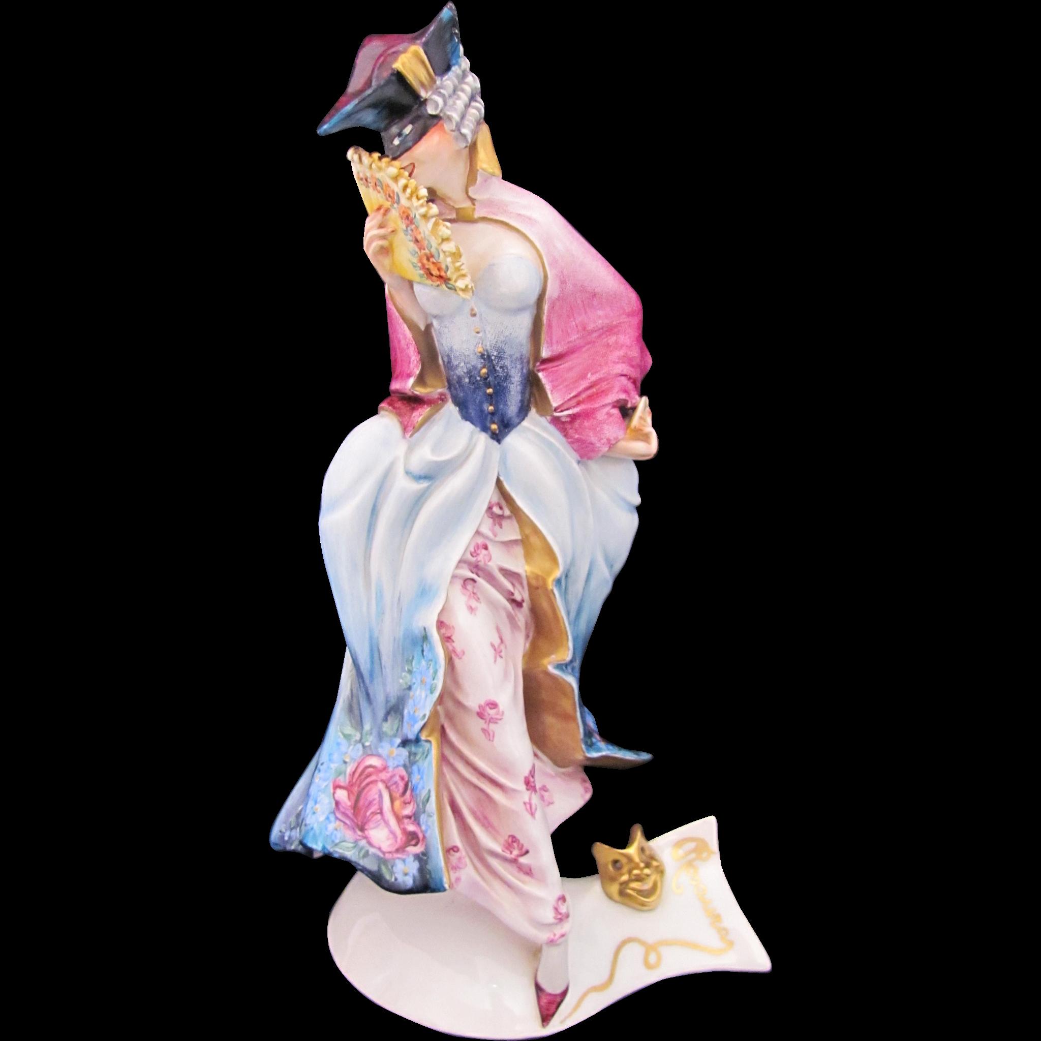 Guido Cacciapuoti Pierrette Figurine Figure Signed Righetto Italy