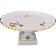 Limoges Castel Tazza Compote White Gold Flowers