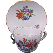 Meissen Dresden Demitasse Cup Deep Well Saucer Dish First Quality c.1900 (A)