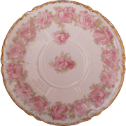 Limoges Drop Rose Pink Saucer 5-1/2 Inches Haviland Schleiger 55