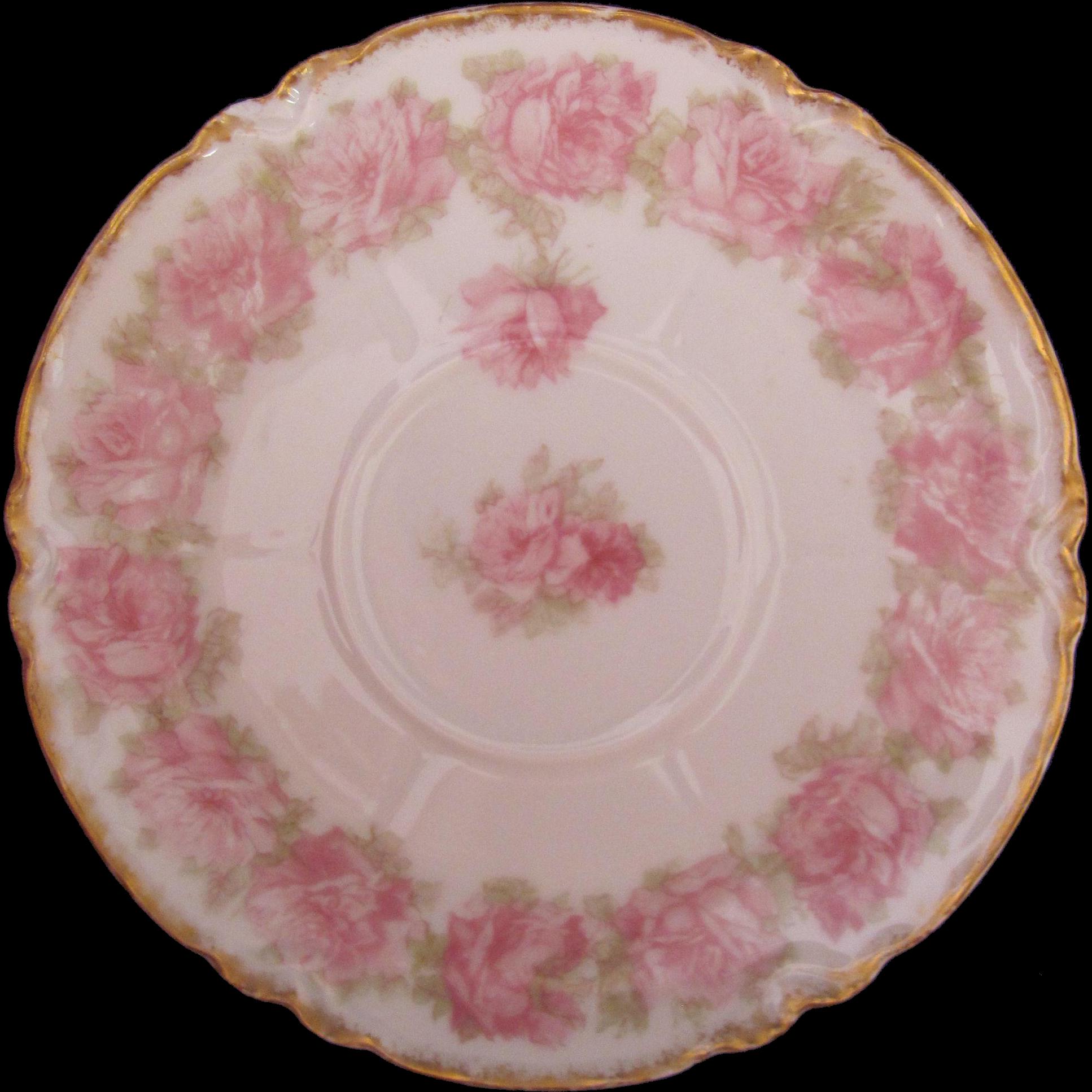 Limoges Drop Rose Pink Saucer 5-1/2 Inches Haviland Schleiger 55