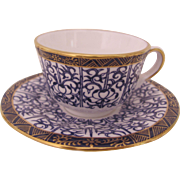 Royal Worcester Miniature Cup Saucer Royal Lily Compton & Woodhouse