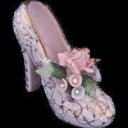 LEFTON Mardi Gras Shoe with Rhinestones 50430 High Heels Rare Vintage c.1940's