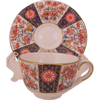 Royal Worcester Miniature Cup Saucer Wheatsheaf Compton & Woodhouse