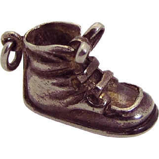 Vintage Napier Sterling Silver Baby Shoe Child's Boot Charm