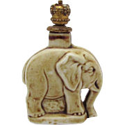 Vintage Figural Elephant German Crown Top Perfume Bottle Schafer & Vater