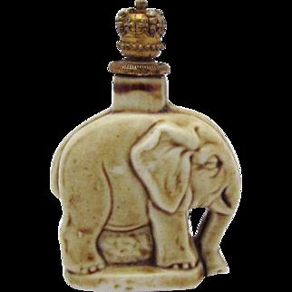 Vintage Figural Elephant German Crown Top Perfume Bottle Schafer & Vater