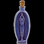 Vintage Art Deco Schafer & Vater Lady Swimmer German Crown Top Perfume Bottle *Swimming*