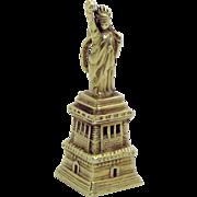 Vintage Art Deco Era 14K Gold 3D Statue of Liberty Charm 1930s