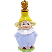 Vintage Lucky Gnome or Elf German Crown Top Figural Perfume Bottle