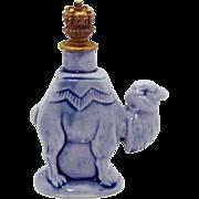 Vintage Blue Camel Schafer & Vater German Crown Top Figural Perfume Bottle
