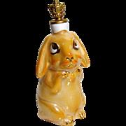 Vintage Luster Bunny Rabbit German Crown Top Figural Perfume Bottle
