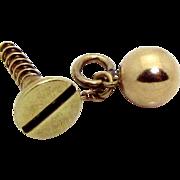 Vintage 14K Gold 3D Sloan & Co. Screwball Charm 1930s