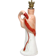 Vintage Art Deco Flamingo Bird German Crown Top Figural Perfume Bottle
