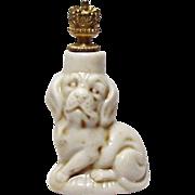 Vintage Schafer & Vater Beagle Dog German Crown Top Figural Perfume Bottle