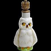 Vintage Art Deco Halloween Owl German Crown Top Perfume Bottle 1930s