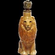 "Vintage Art Deco ""LION"" German Crown Top Figural Perfume Bottle"