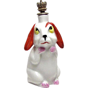 Vintage Art Deco Era Bunny Rabbit German Crown Top Figural Perfume Bottle