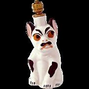 Vintage Spanish Bulldog (Alano Español) German Crown Top Figural Perfume Bottle