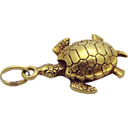 Antique 14K Gold 3D Turtle Charm Enos Richardson & Co. Newark NJ
