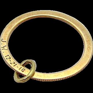 Antique 14K Yellow Gold Circle of Life Pendant/Charm 1918