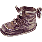 Vintage Napier Sterling Silver Large Baby Shoe Boot Charm/Pendant
