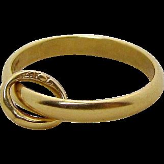 Vintage 14K Yellow Gold Baby Ring Band Charm Krementz & Co. 1930s