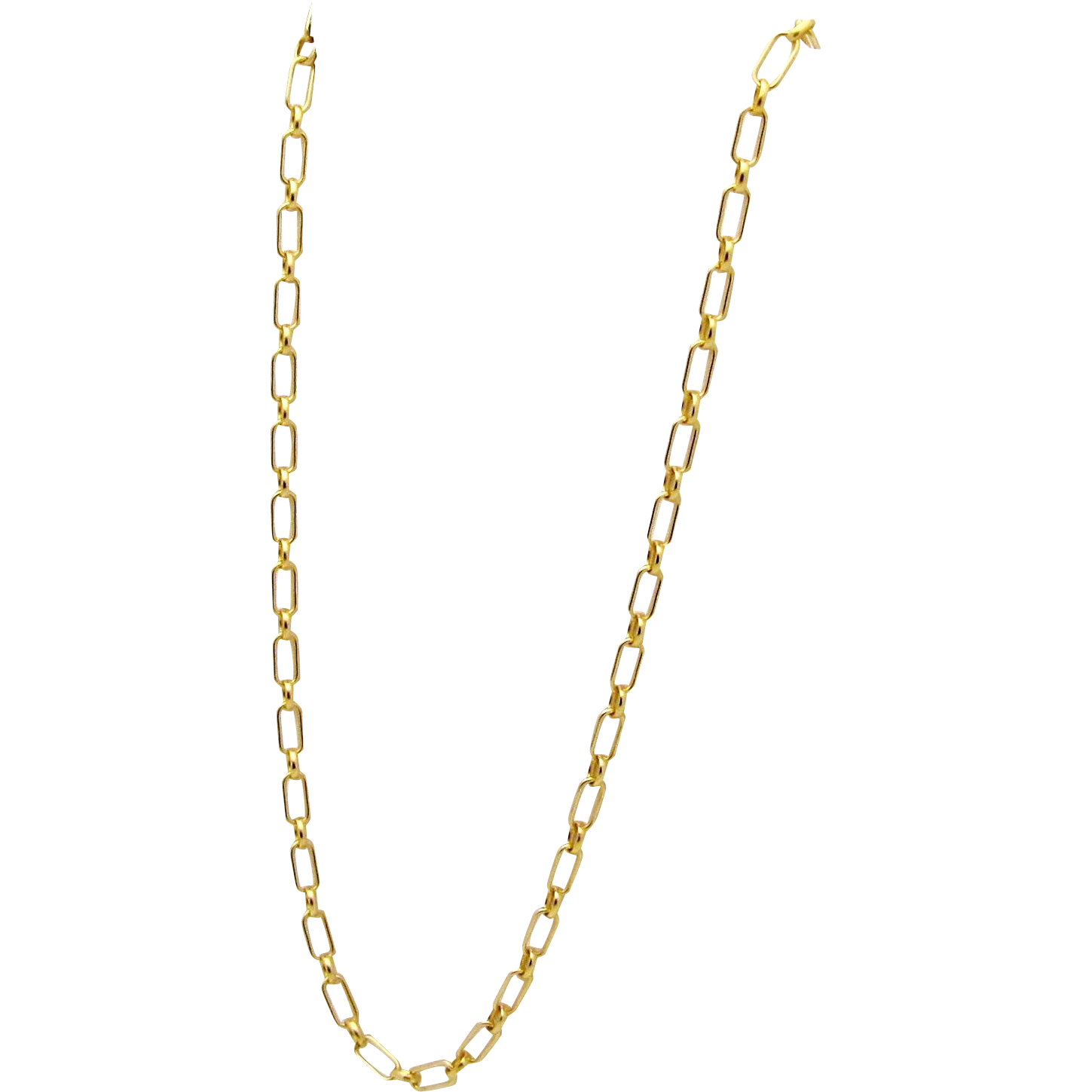 lyst product in gold mija metallic link necklace chain oval gallery jewelry