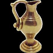Vintage 14K Gold 3D Urn Pitcher Charm 1940s