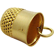 Vintage 14K Gold Sewing Thimble Charm