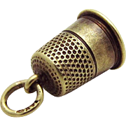 Vintage 14K Gold Art Deco Era Sewing Thimble Charm Eckfeldt & Ackley Newark NJ 1920s
