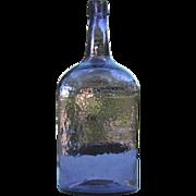 Beautiful Antique Amethyst Demijohn 3 Piece Mold Type Glass Wine Bottle 1880s