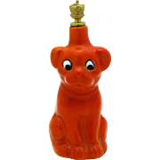 Vintage Goebel German Crown Top Perfume Bottle Googly Eye Red Dog