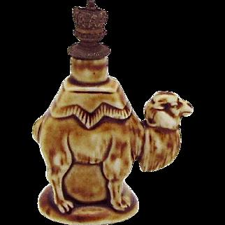 Vintage Camel Schafer Vater German Crown Top Figural Perfume Bottle