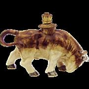 Vintage Bull German Crown Top Figural Perfume Bottle