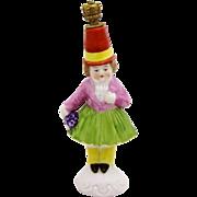 Vintage Carnival Girl Performer German Crown Top Figural Perfume Bottle