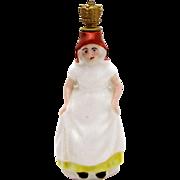 Vintage Old Dutch Maid Crown Top Figural Perfume Bottle J.C. Boldoot Holland
