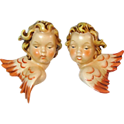 Goebel Sacrart Angels Wall Plaques Pair HX269 A & B TMK-3 West Germany