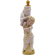Antique 19th Century Pre-Crown Top Perfume Bottle *Child with Frog* Staffordshire