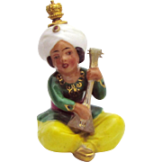 Vintage Goebel German Crown Top Perfume Bottle Arabian Boy Playing a Balalaika