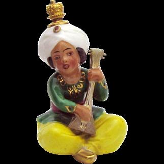 Vintage Goebel German Crown Top Perfume Bottle Arabian Boy Playing a Balalaika