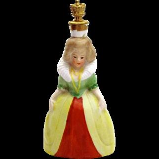 Vintage Lisette Queen German Crown Top Figural Perfume Bottle