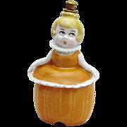 Vintage German Crown Top Perfume Bottle *Pumpkin Lady* Trinket Box Combo