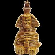 Vintage Egyptian Sphinx German Crown Top Figural Perfume Bottle