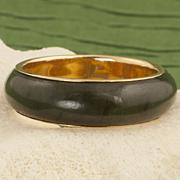 Vintage 14 Karat Gold Jade Band