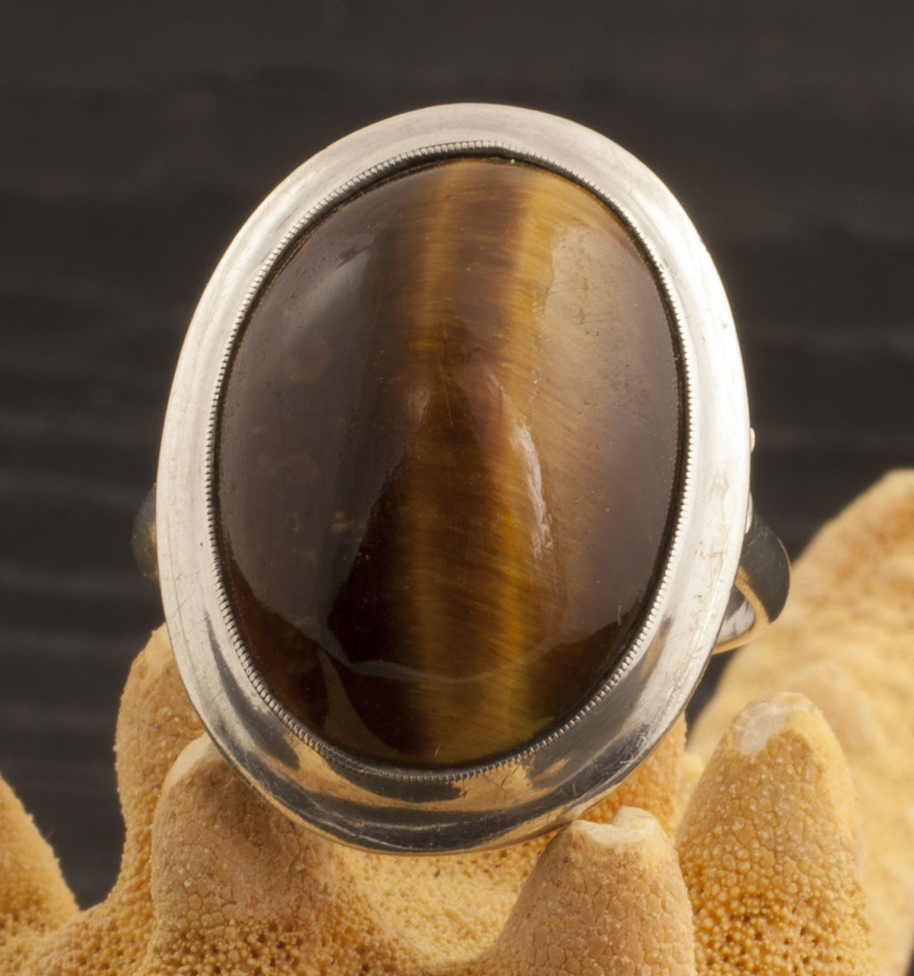Vintage Sterling Silver Tiger's Eye Ring